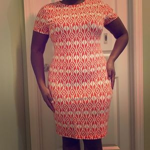 NWT Coral and white dress